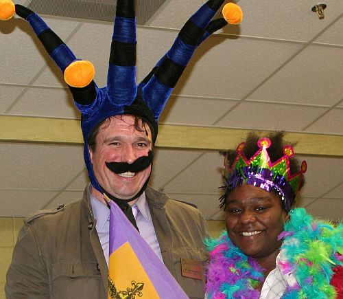 Modern Languages Mardi Gras means King Cake, costumes, contests