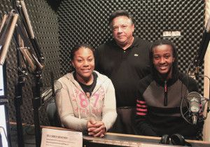 Tori Brown, left, and Esther Anyanwu right, with Jay Andrews on 891 WBCX