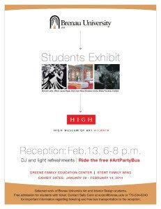 High Museum Student Exhibiton poster