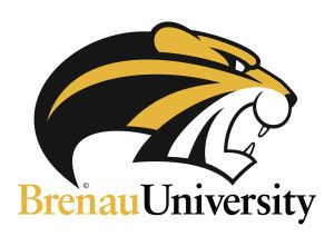 Brenau Golden Tiger Primary Mark - with type - white bg