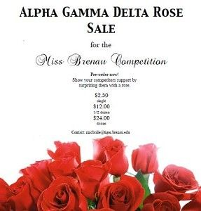 Buy a rose for Miss Brenau
