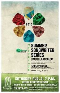 Summer Songwriter Series Poster