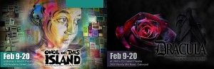 The Gainesville Theatre Alliance performs two productions this February. Both 'Once on This Island' and 'Dracula' run Feb. 9-20.