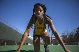 Olamide Sokunbi was named the SSAC Track Athlete of the Week for March 28-April 3.