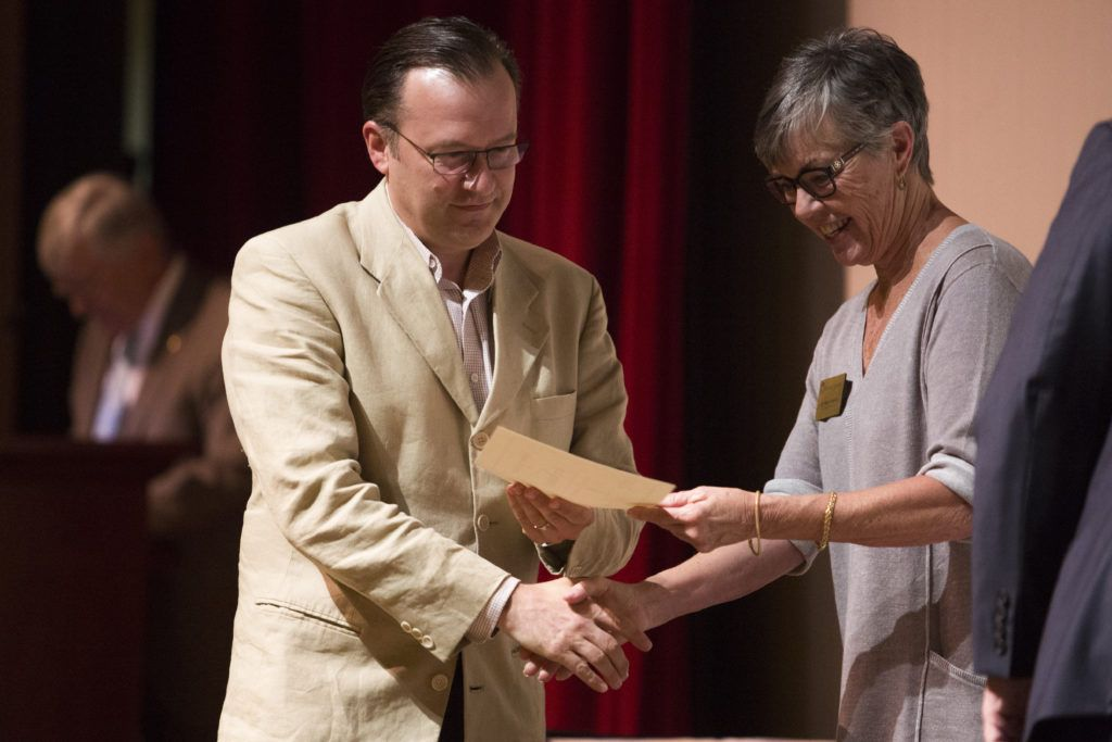 Troy Heidesch, Richards Endowed chair of Graduate Nursing & Health Science, recognized among the five year employees.