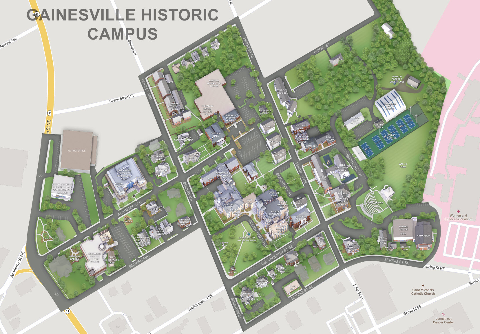 Updates to Online Campus Map   Brenau Update