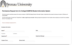 Brenau Migrating to Online Forms
