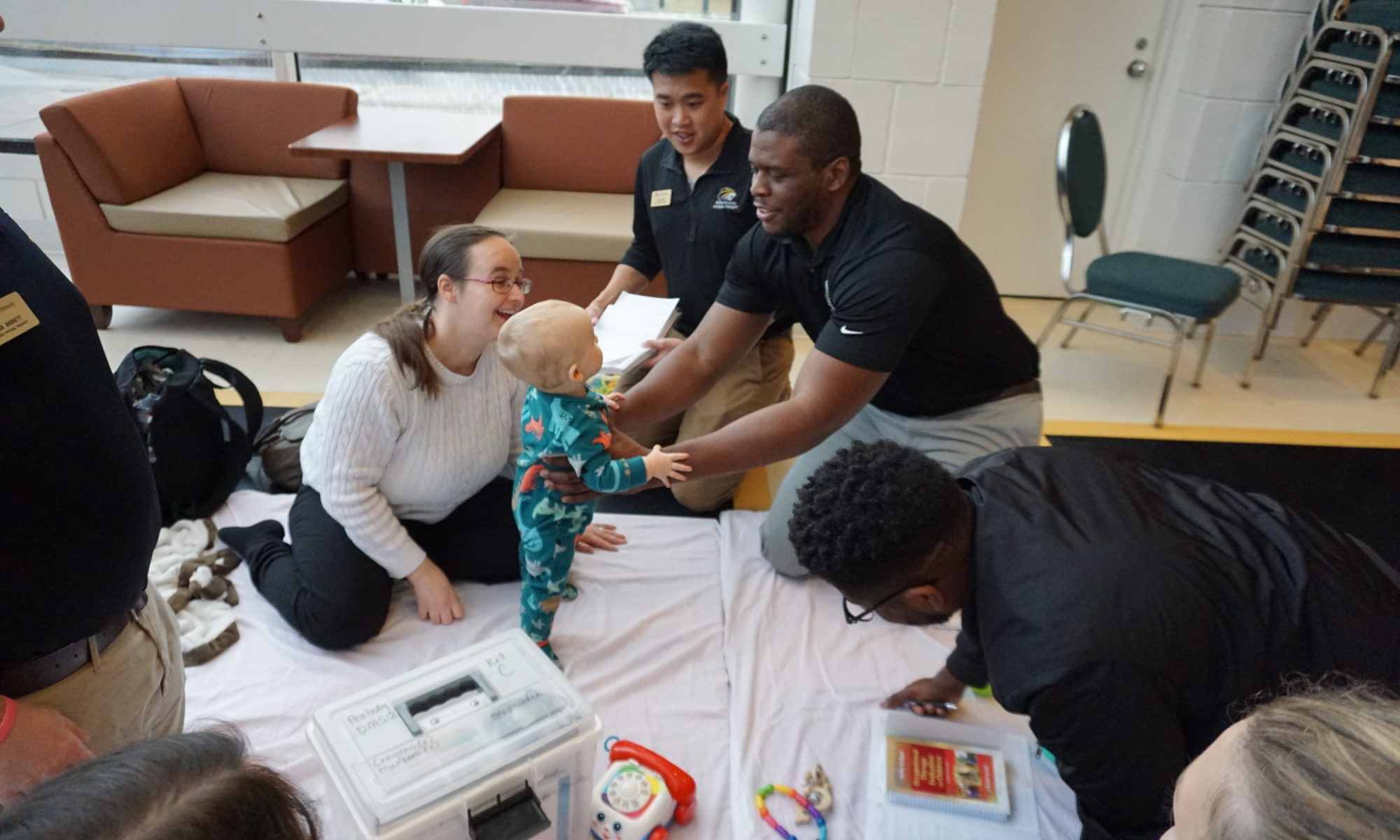 OT and PT Students learn with the babies of Brenau community members
