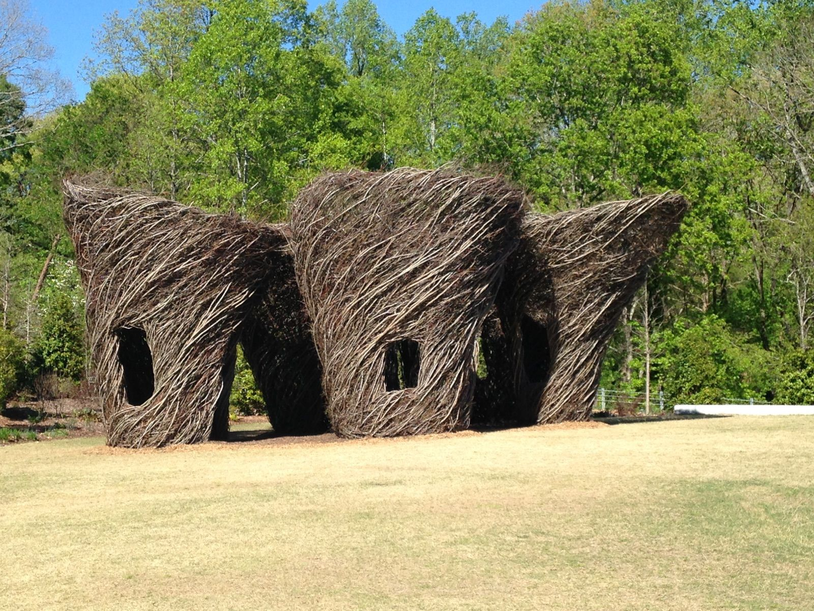 Patrick Dougherty's 'Woven Whimsy,' Atlanta Botanical Garden in Gainesville